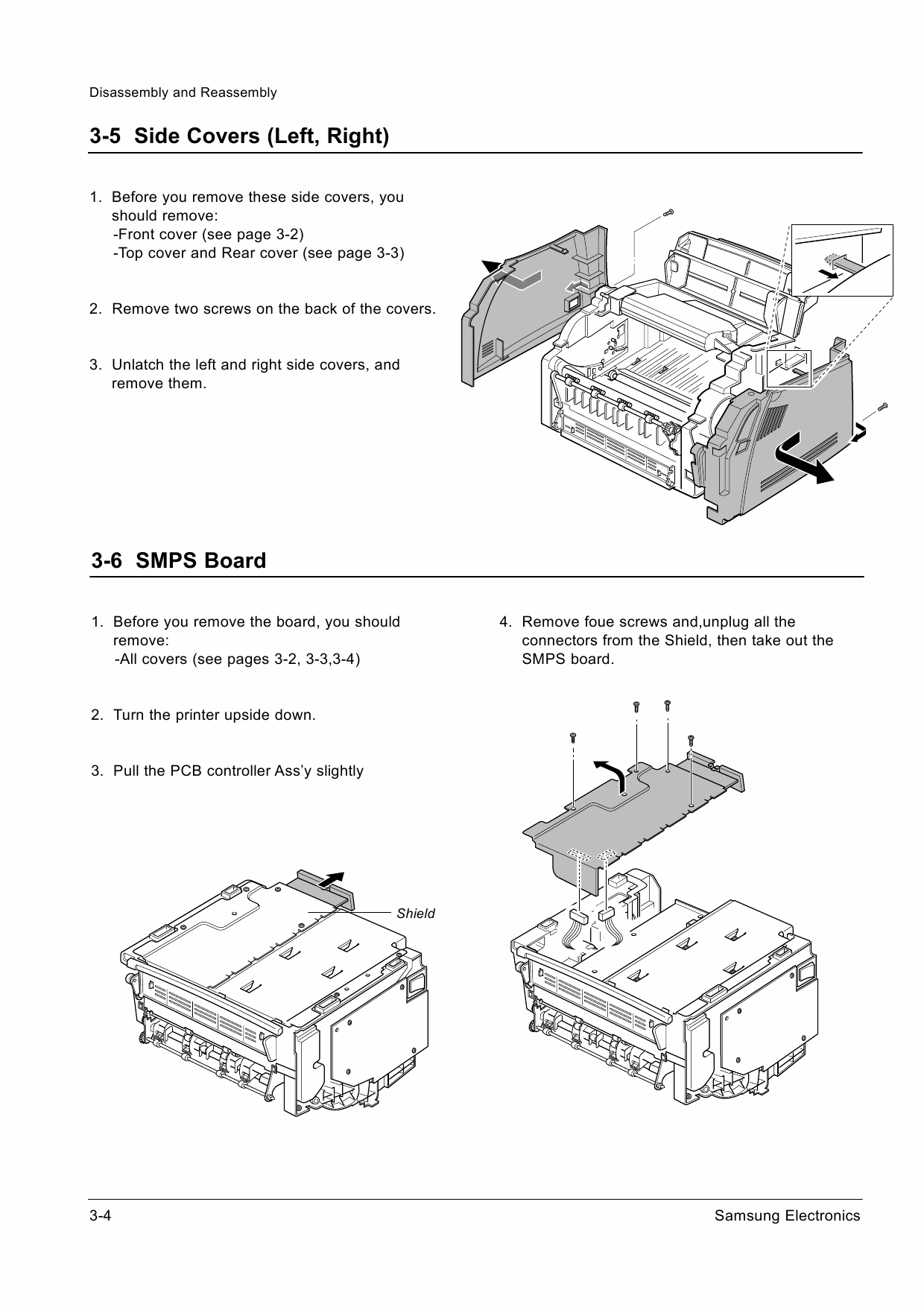 Samsung Laser-Printer ML-5200A Parts and Service Manual