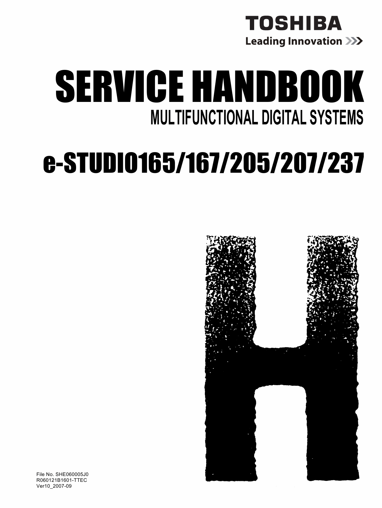 TOSHIBA e-STUDIO 165 167 205 207 237 Service Manual