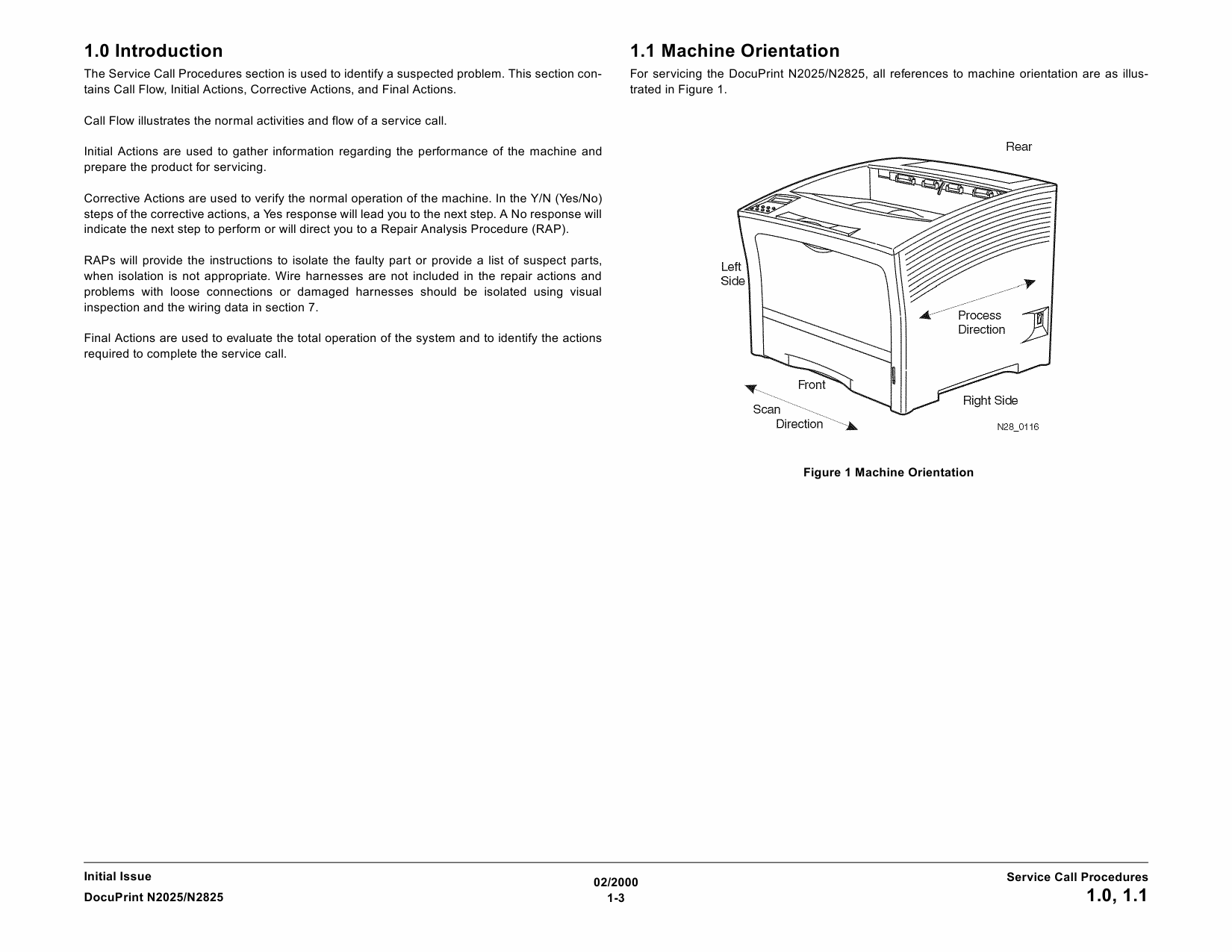 Xerox DocuPrint N2025 N2825 Service Manual