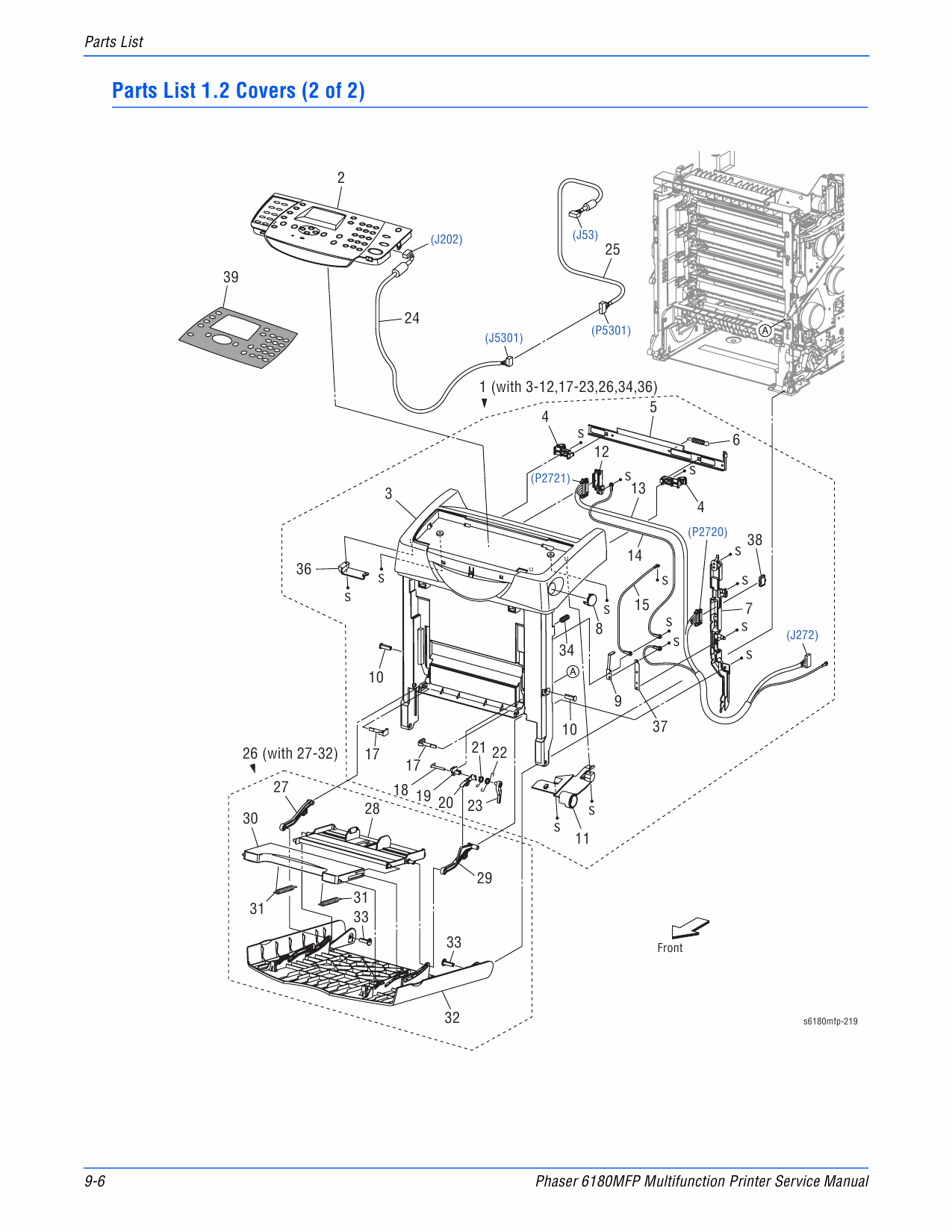 Xerox Phaser 6180-MFP Parts List and Service Manual
