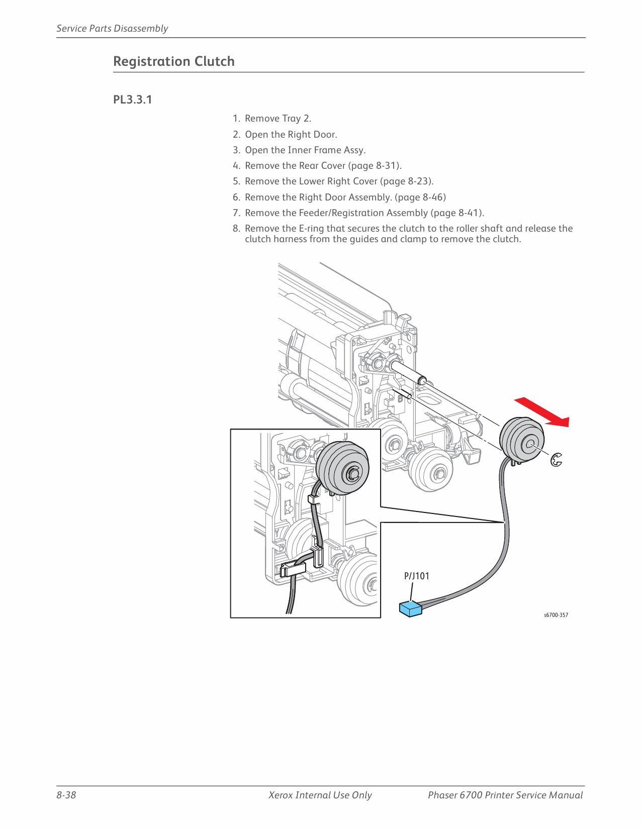 Xerox Phaser 6700 Parts List and Service Manual