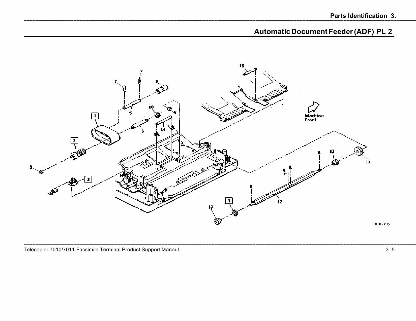 Xerox Printer 7010 7011 Fax Parts List and Service Manual
