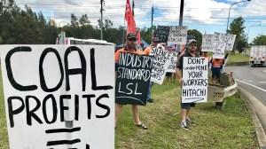 CFMMEU coal protest
