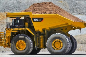 CAT 796 dump truck