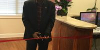 May 7, 2015 | QMII Headquarters | President & CEO, IJ Arora, cuts the ceremonial ribbon to the main entrance of our new office and declares it open for business!