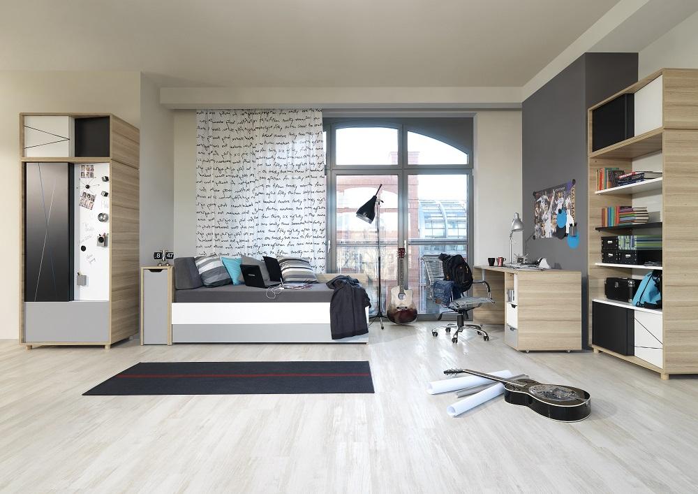 Jugendzimmer Set komplett 3Colors  QMM TraumMoebel