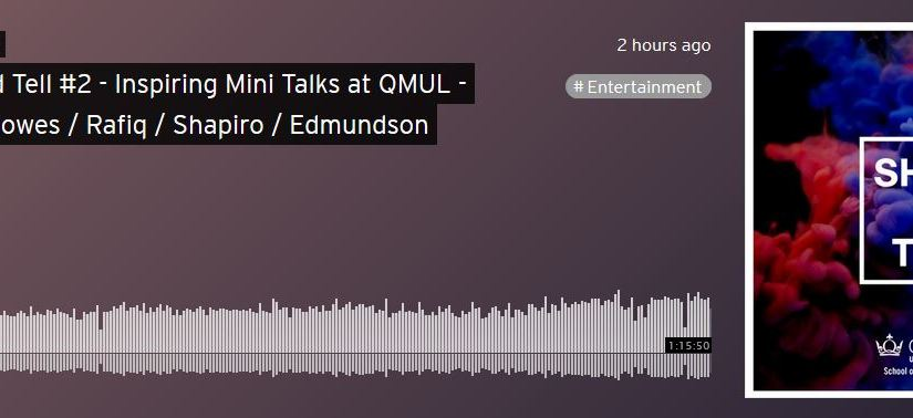 Listen to our Show and Tell #2 Podcast featuring Susheila Nasta (Wasafiri), Raifa Rafiq (Mostly Lit), Hetta Howes (City), Emma Shapiro (Pembroke College Library) and Edie Edmundson (Puppeteer)