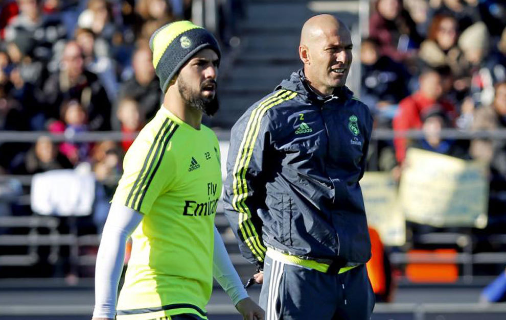 Image result for isco and zidane