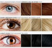 hair color blue light