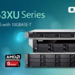 QNAP、シングルポートの10GbE 10GBASE-T接続を搭載した、新しいAMDクアッドコア4/8/12ベイTS-x63XUラックマウントNASを発表