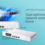 QNAP、ホームユーザーとSOHOユーザー向けのコスト効率の良い10GbEスイッチであるQSW-308-1CとQSW-308Sを発表