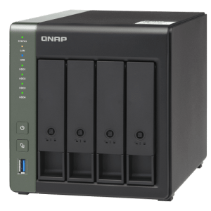 QNAP TS-431X3-4G 4-Bay Tower NAS with 1.70 GHz Annapurna Labs Alpine CPU and 4GB RAM