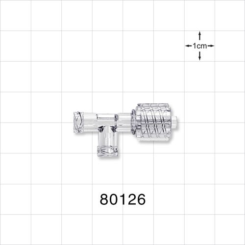 T Connector, Male Luer with Spin Lock and Two Female Luer
