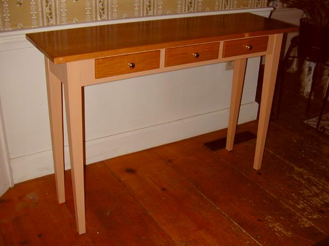 shaker style sofa plans best table handmade hall tables custom ...
