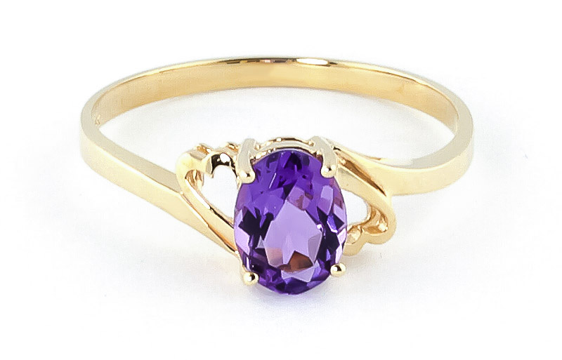 Amethyst Classic Desire Ring 0.75ct in 9ct Gold