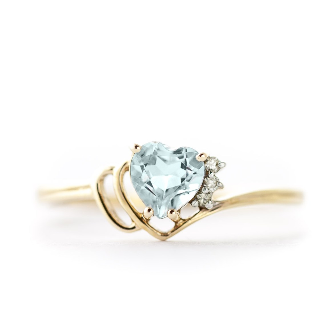 Aquamarine and Diamond Passion Ring 0.95ct in 9ct Gold