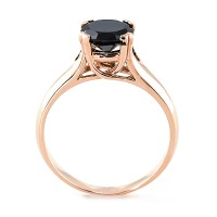 Rose Gold Ring: Rose Gold Ring With Black And White Diamonds