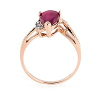 Rose Gold Ring: Rose Gold Ring With Ruby And Diamonds