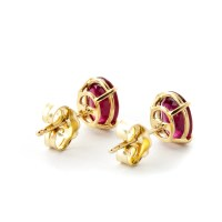Ruby Stud Earrings 1.8ctw in 9ct Gold - 1691Y | QP Jewellers