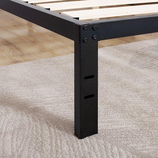 Tatago 3500lbs Upgraded Heavy Duty 14 Wooden Slats Platform Bed Frame Queen