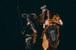 Dragonborn (Skyrim) and Retribution Paladin (WoW) cosplay