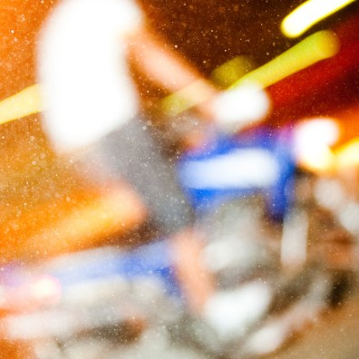 Pulling wheelies round the roundabout the day Spain won the World Cup. So much dust being kicked up it caught my focus. I love that bokeh.