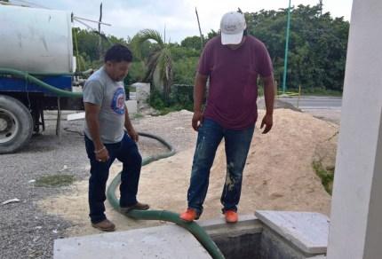 Reparan planta de vacío del sistema sanitario en Mahahual 4