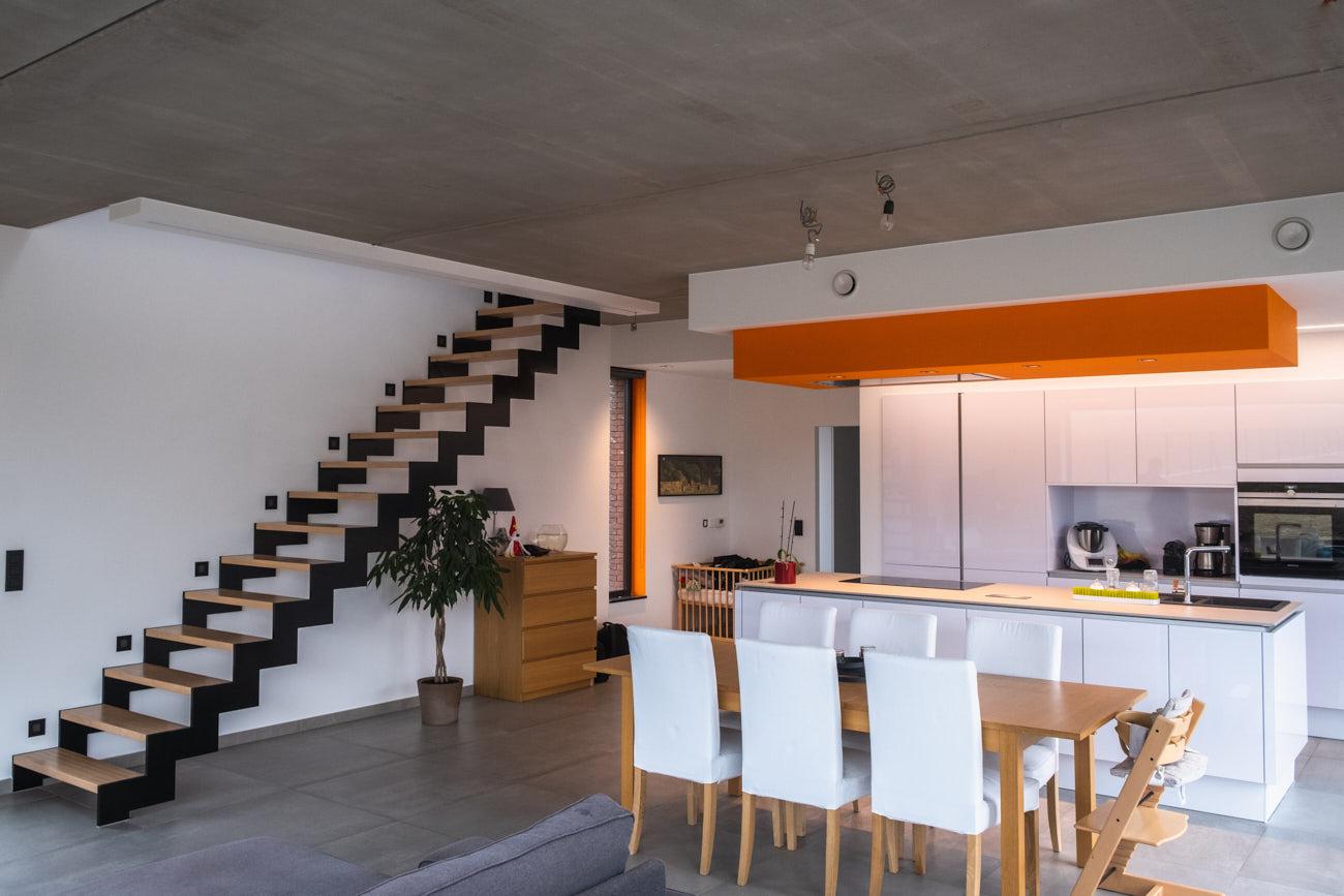 Photographie pour un bureau d'architecture qui montre l'intérieur d'une habitation