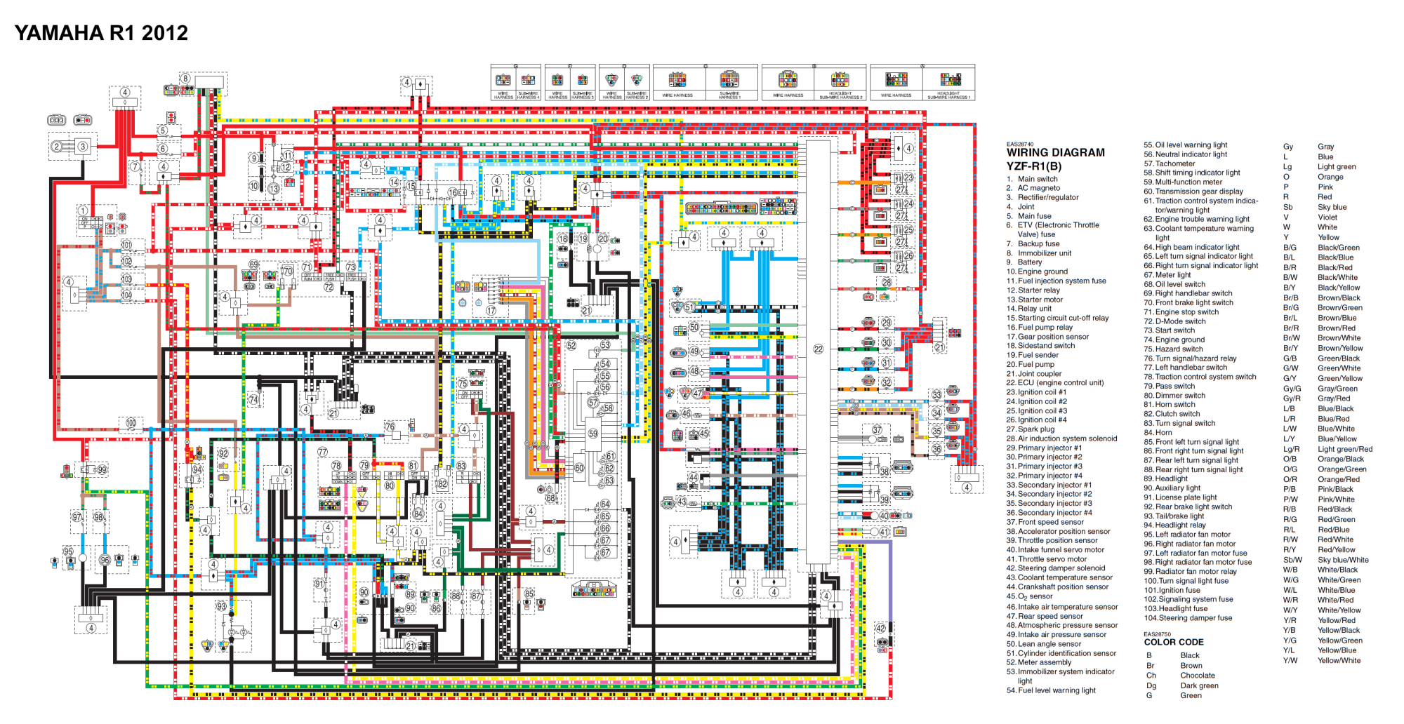 hight resolution of 2009 yzf r1 wiring diagram