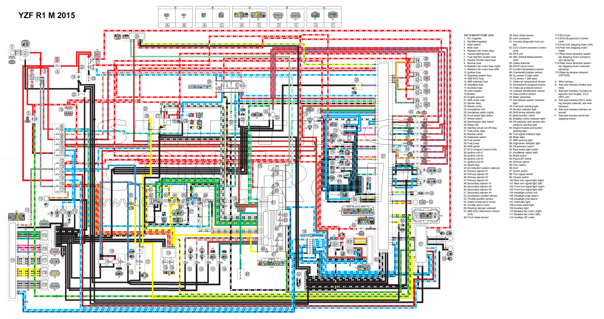hight resolution of wiring diagrams 2012 yzf r1 wire diagram