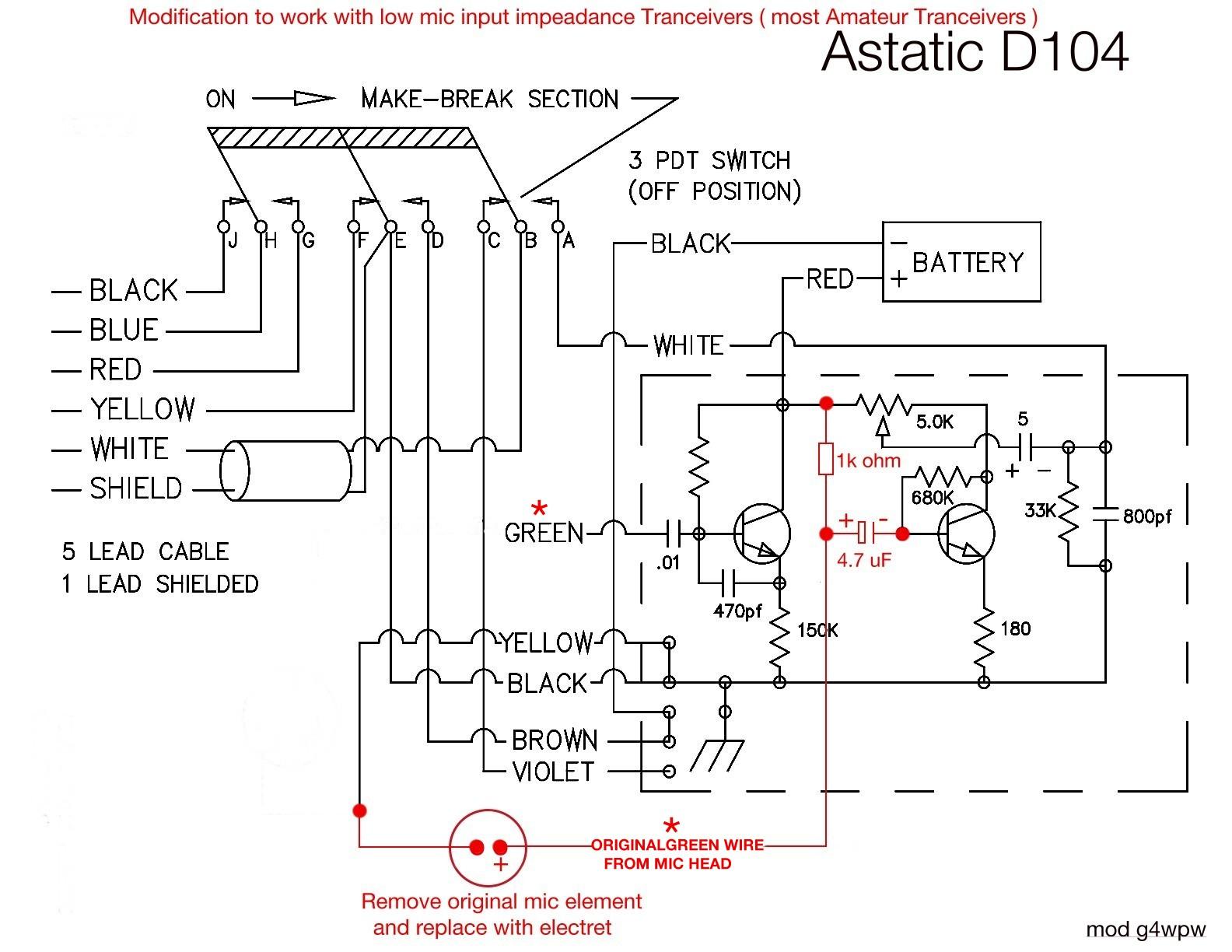 Astatic Mic Wiring Diagram D104