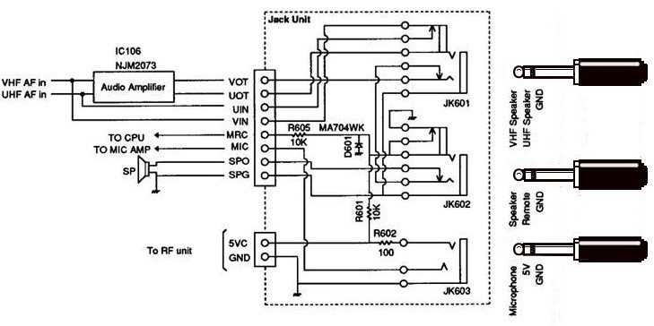 alinco microphone wiring