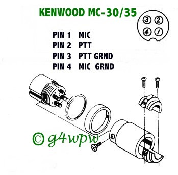 microphone wire diagram spst lighted rocker switch wiring in3eci italian amateur radio station kenwood mc 30 35
