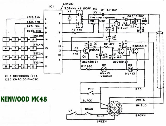mic wiring diagram house light switch please note kenwood mc 48b microphone