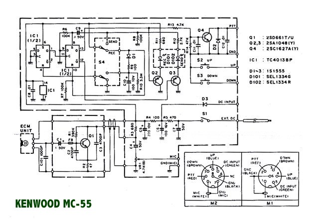 microphone wire diagram agile development model in3eci italian amateur radio station kenwood mc 55