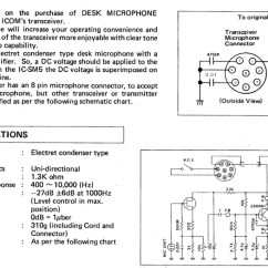 Mic Wiring Diagram Ignition Coil Resistor Please Note Icom Sm5 Connections