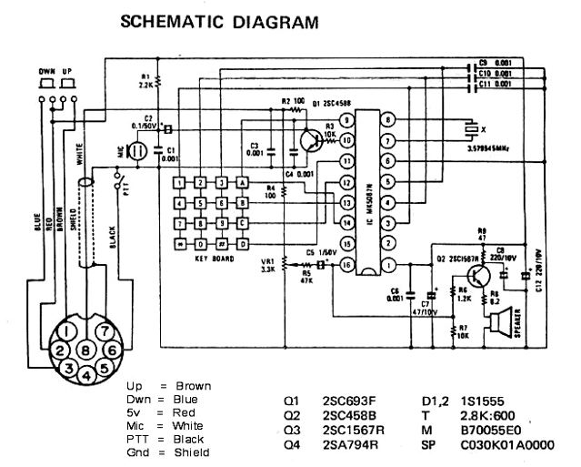 microphone wire diagram 2007 jeep compass engine in3eci italian amateur radio station