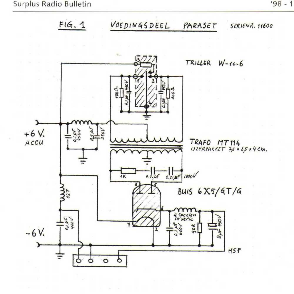 medium resolution of 62 paraset power supply