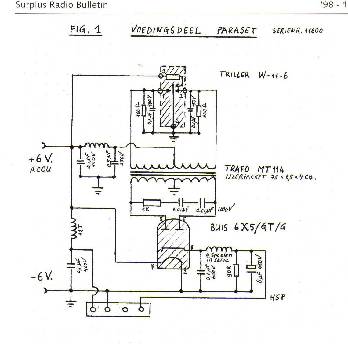 hight resolution of 62 paraset power supply