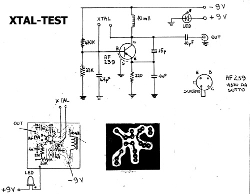 schematic of xtal-tester for dipper