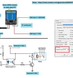ptt relay wiring plus schematic png [ 1234 x 949 Pixel ]
