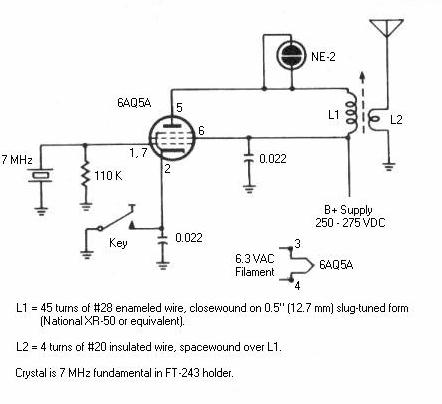 6aq5 Cw Transmitter For 40 Meters