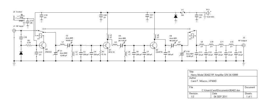 medium resolution of henry radio 30a02 rf amplifier schematic diagram