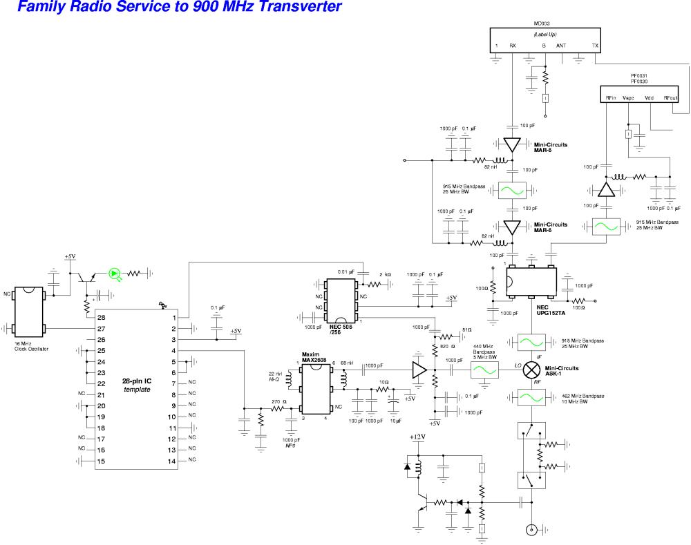 medium resolution of family radio service frs to 900 mhz transverter schematic