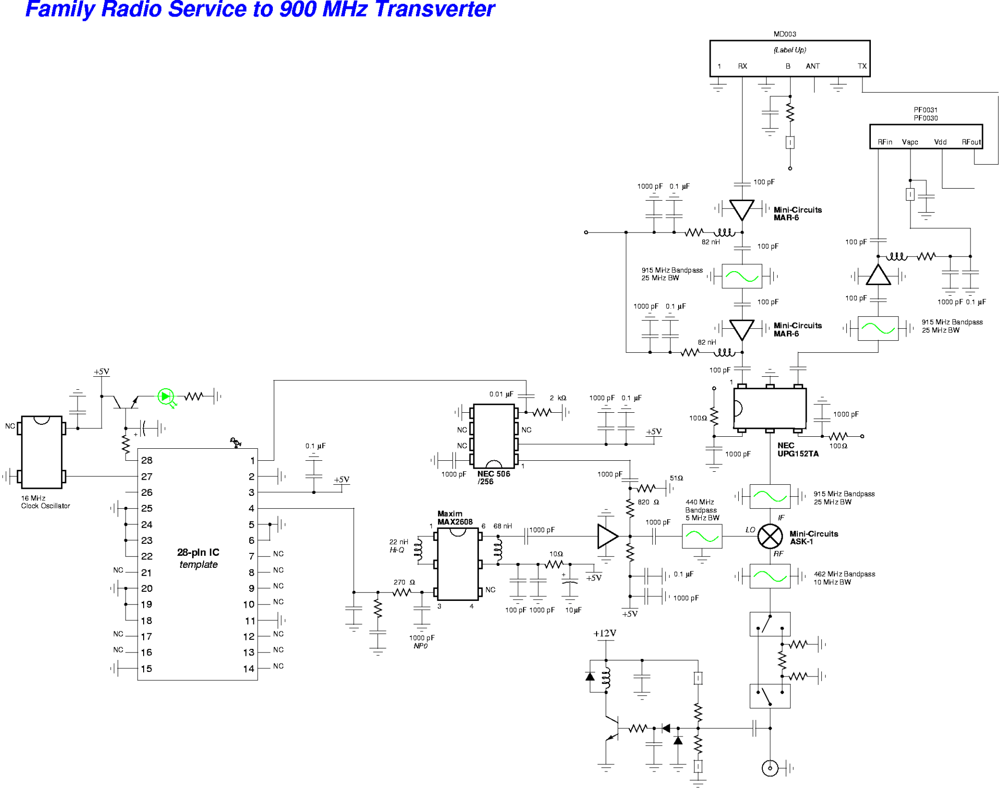 hight resolution of family radio service frs to 900 mhz transverter schematic