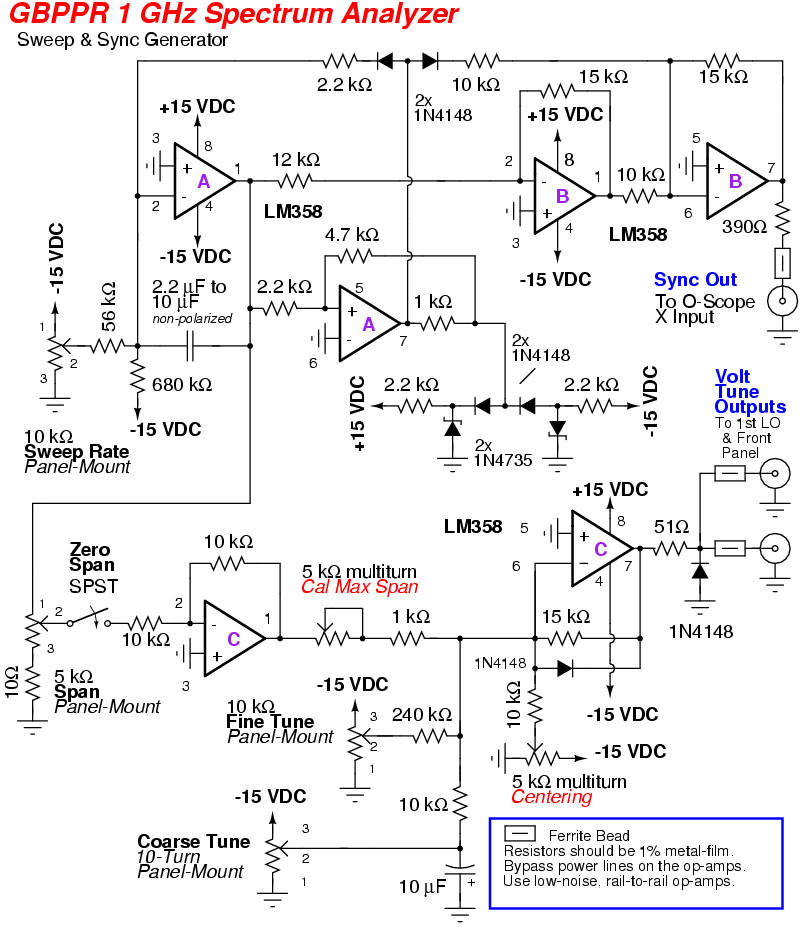 rf spectrum analyzer schematic