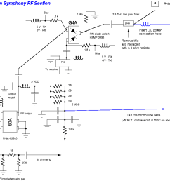 bi directional 2 4 ghz one watt amplifier with receive pre amp wifi signal booster schematic diagram [ 1069 x 853 Pixel ]