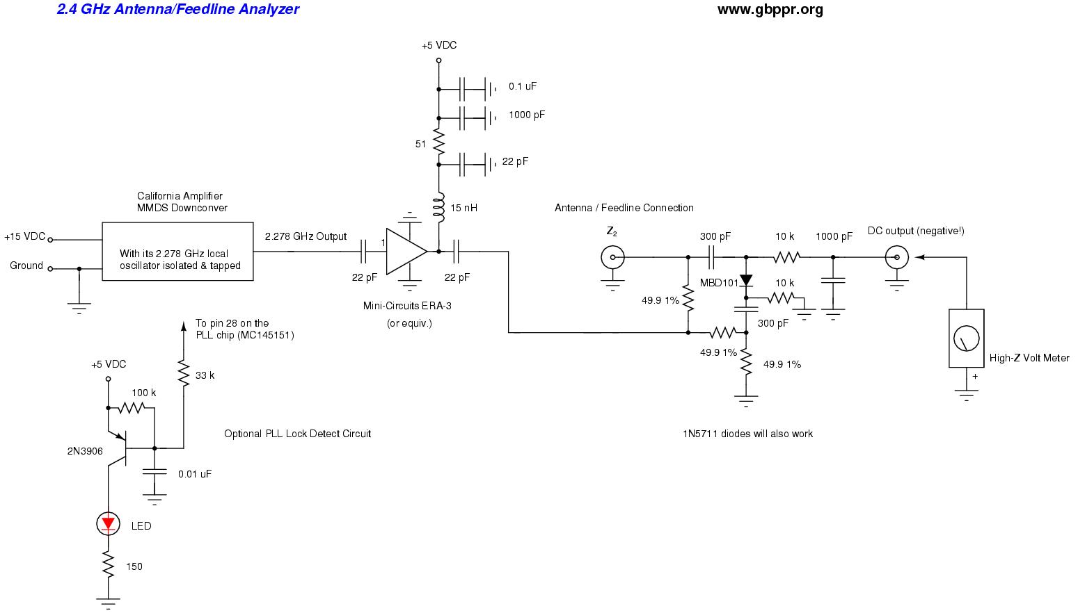 hight resolution of 2 4 ghz antenna feedline analyzer schematic