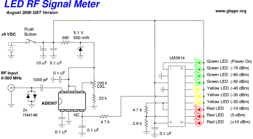 small resolution of  led rf signal meter schematic