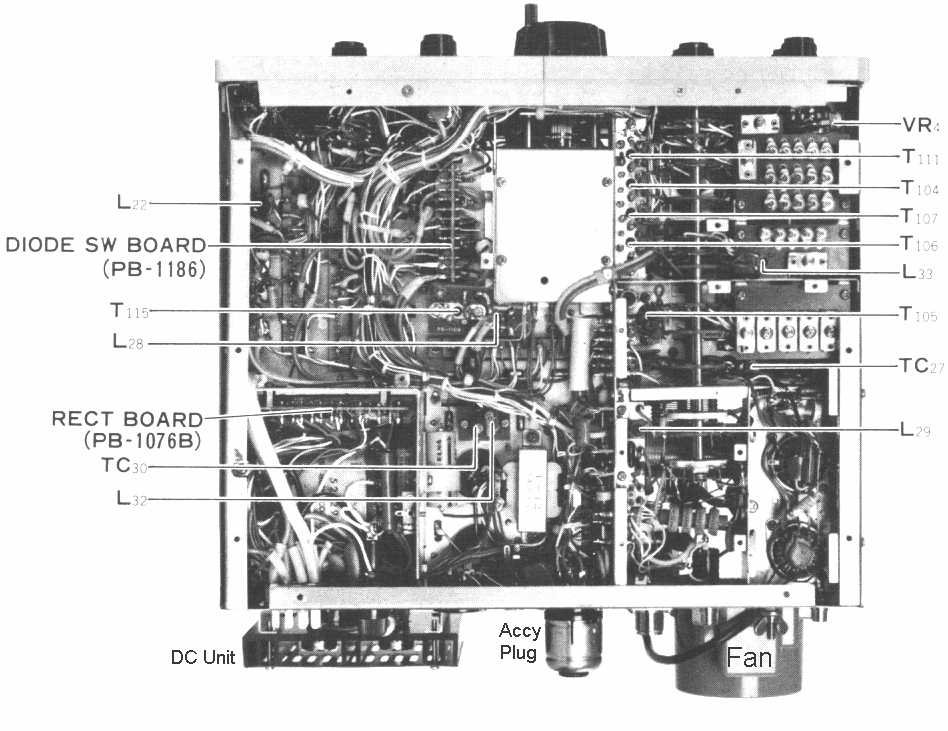 internal wiring diagram vga colours yaesu ft-101 hf transceiver home page, nw2m